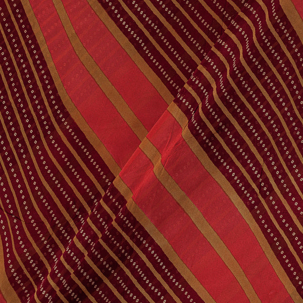 Viscose Georgette Maroon  Colour 42 Inches Width Bandhani Print Fabric
