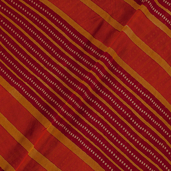 Viscose Georgette Brick Colour 42 Inches Width Bandhani Print Fabric