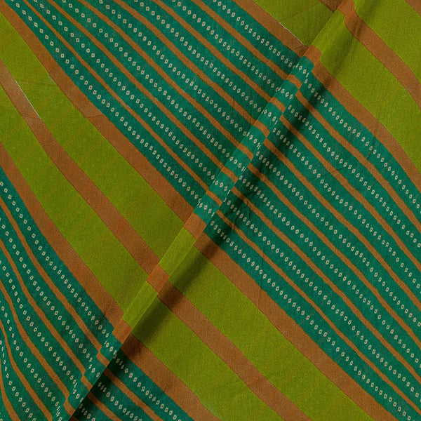Viscose Georgette Green Colour 42 Inches Width Bandhani Print Fabric