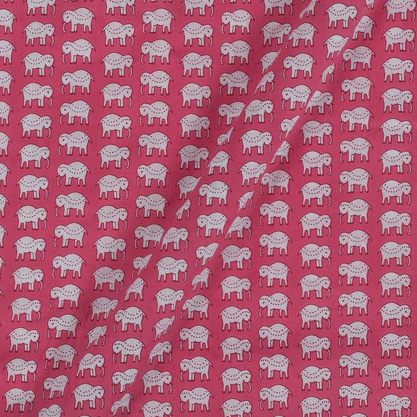 Cotton Dark Pink Colour 43 Inches Width  Quirky Print Fabric