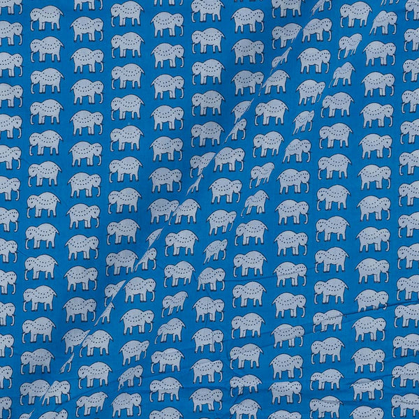 Cotton Sky Blue Colour 43 Inches Width Quirky Print Fabric
