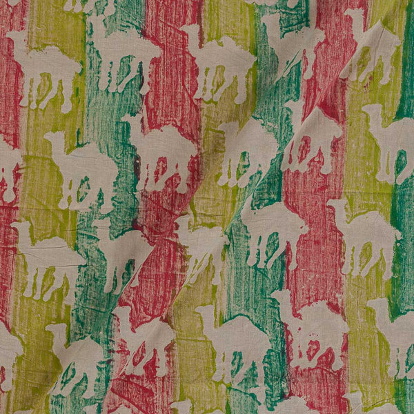 Dabu & Bagru Cotton Multi Colour 43 Inches Width Quirky Hand Block Print Fabric