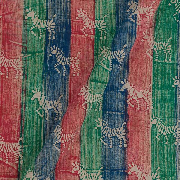 Dabu Cotton Multi Colour 43 Inches Width Quirky Hand Block Print Fabric
