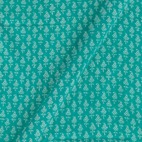 Voile Type Cotton Aqua Sky Colour 41 Inches Width Paisely Print Fabric