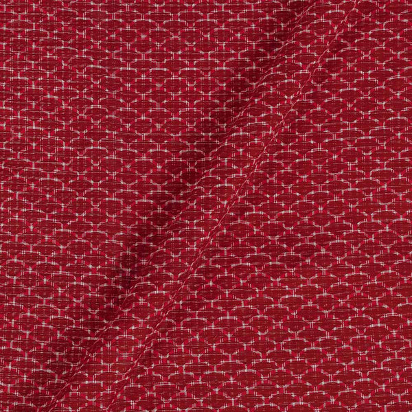 Flex Cotton Red Colour 43 Inches Width Geometric Block Print Fabric
