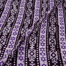 Cotton Batik Black Colour 45 inches Width All Over Border Print Fabric