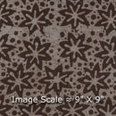 Cotton Batik Carbon Colour 45 Inches Width Geometric Print Fabric