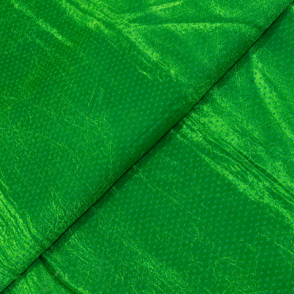 Gaji Dani Green Colour Dyed Fabric