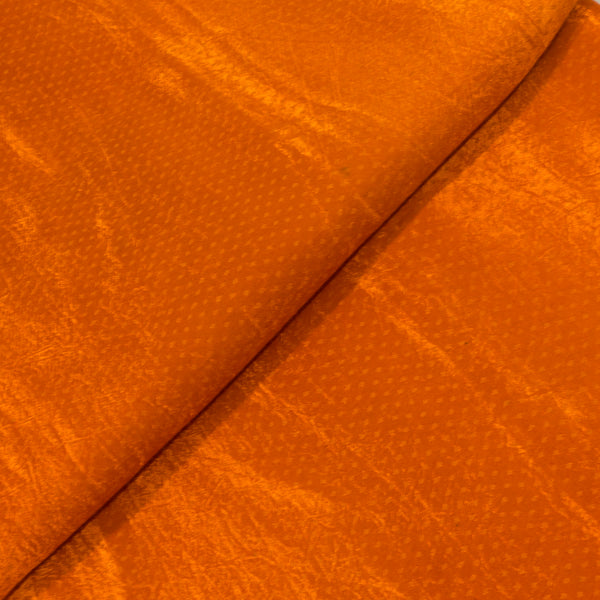 Gaji Dani Orange Colour Dyed Fabric