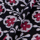 Cotton Batik Dark Blue Colour 45 inches Width  Floral Jaal Print Fabric