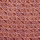 Cotton Batik Maroon Colour 45 inches Width Leaves Print Fabric