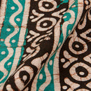 Cotton Batik Charcoal Colour 45 inches Width All Over Border Print Fabric