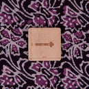 Cotton Batik Dark Plum Colour Floral Jaal Print Fabric