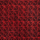 Cotton Batik Red Colour 46 inches Width Leaves Print Fabric