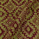 Cotton Batik Pale Green Colour Geometric Print Fabric