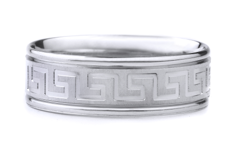 Coin Edge Finish with Greek Key Design (Machined)