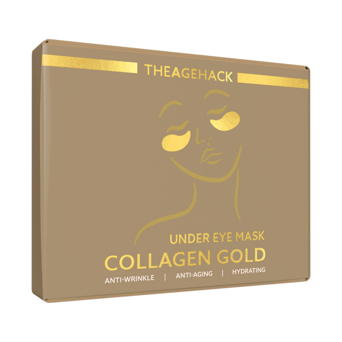 THEAGEHACK Collagen Gold Under Eye Mask (5 Pairs Per Box)