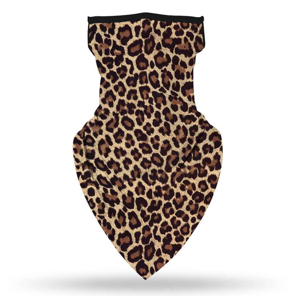 Cheetah Neck Gaiter with Ear Loops | Teens & Adults | Face Neck Covering