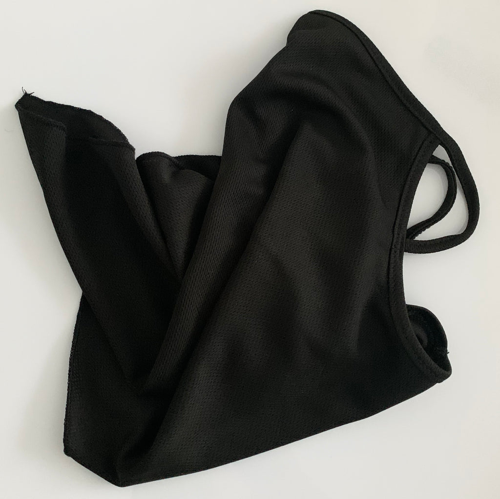 Black Neck Gaiter with Ear Loops | UNISEX | Face Neck Covering