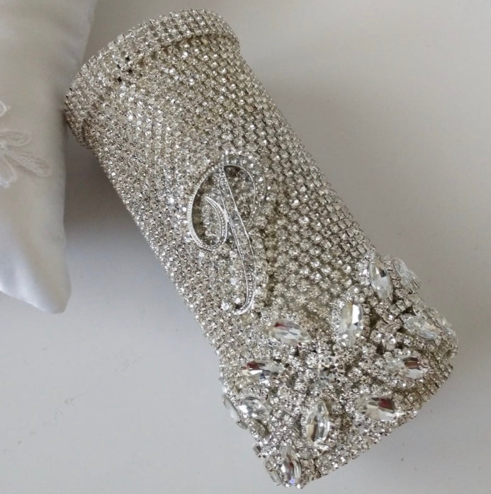 """Melissa"" Bridal Bling Bouquet Holder"