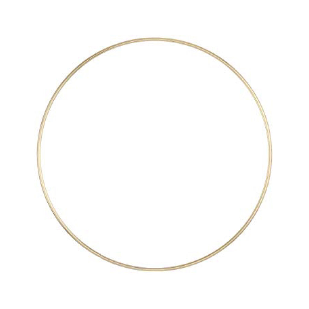 "8""Gold Metal Ring - 1 piece"