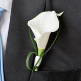 Calla Lily Groom's Boutonnière