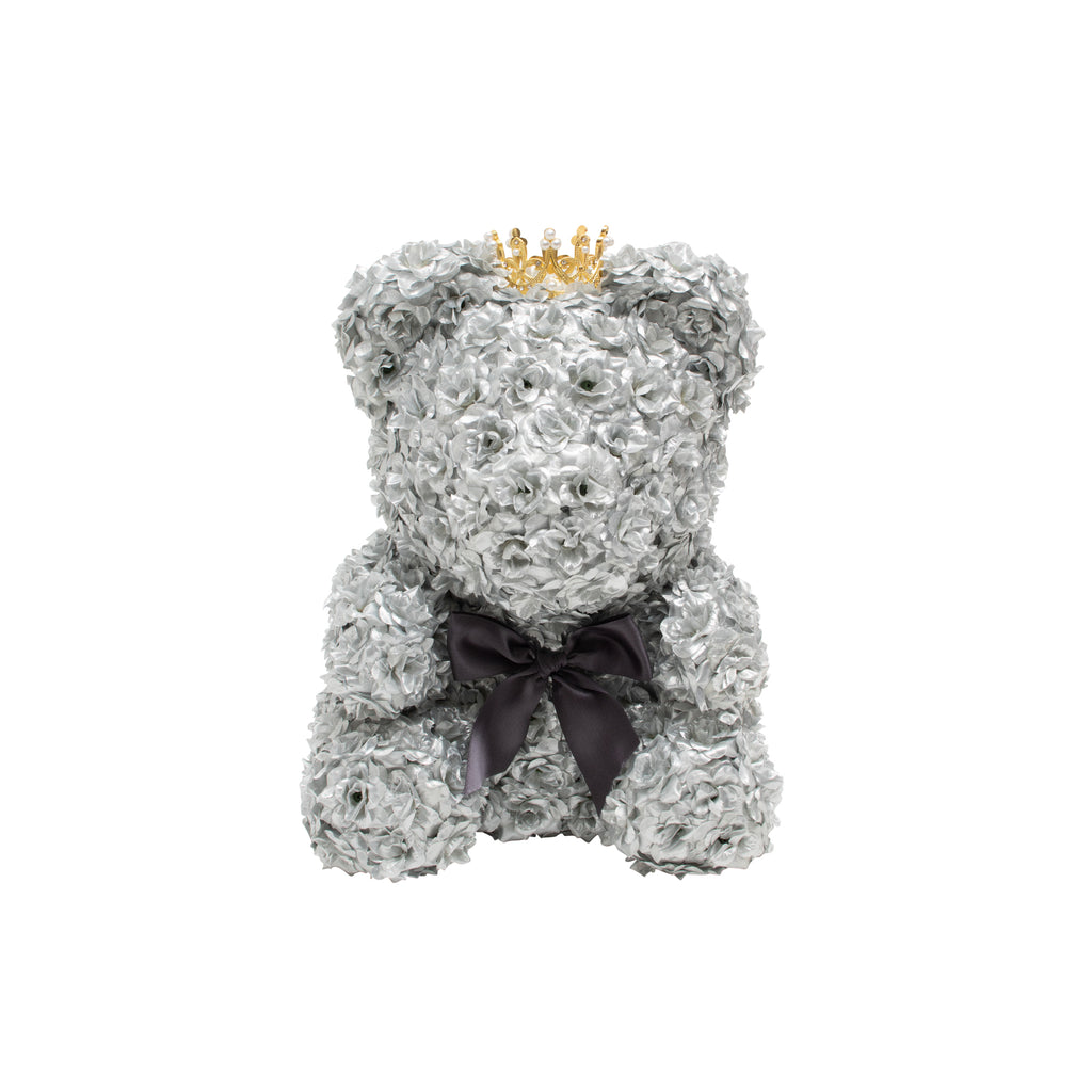Ultimate Luxury Rose Bear - Platinum Silver