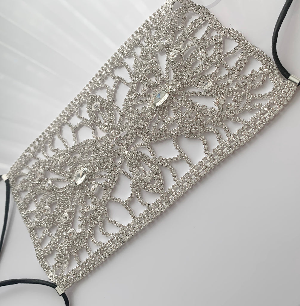 Luxury Crystal Rhinestone Face Mask Cover (OPTIONAL cotton mask)