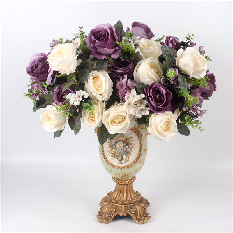 Artificial 13-head Peony Rose Bouquet