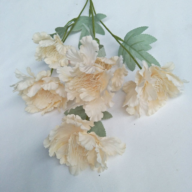 Artificial 6-branch Snow Peony Flower Bouquet
