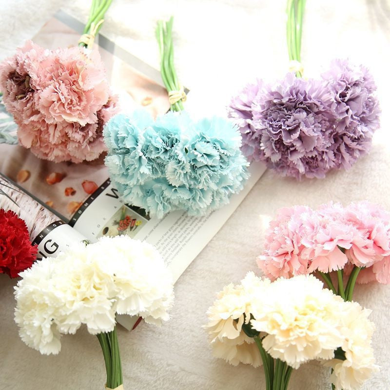 Artificial Carnation Flower Bouquet