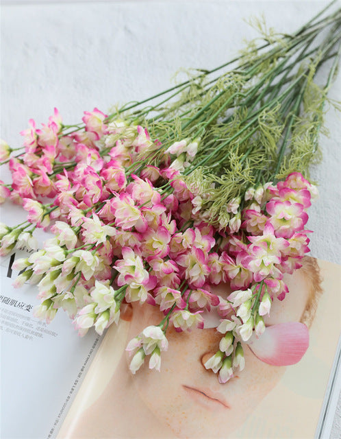 Artificial Single-branch Silk Gladiolus Orchid Flower - 1 piece