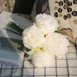 Artificial Peony Bouquet - 5 pieces