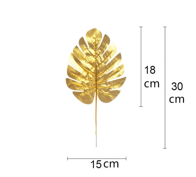 Artificial Gold Turtle Back Leaf - 20 pieces