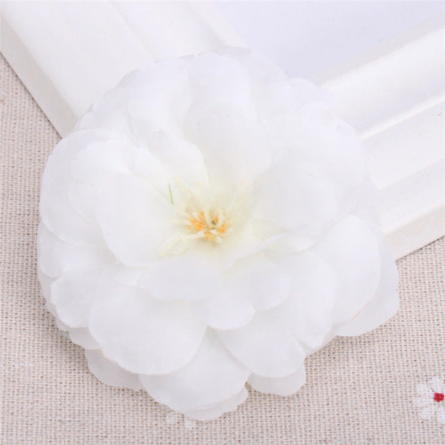 Artificial Camellia Flower Heads - 8 pieces