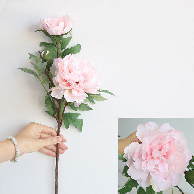 Artificial Silk Single-branch Peony Flower - 1 piece
