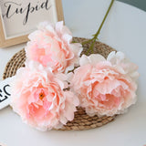 Artificial Silk 5-head Peony Bouquet