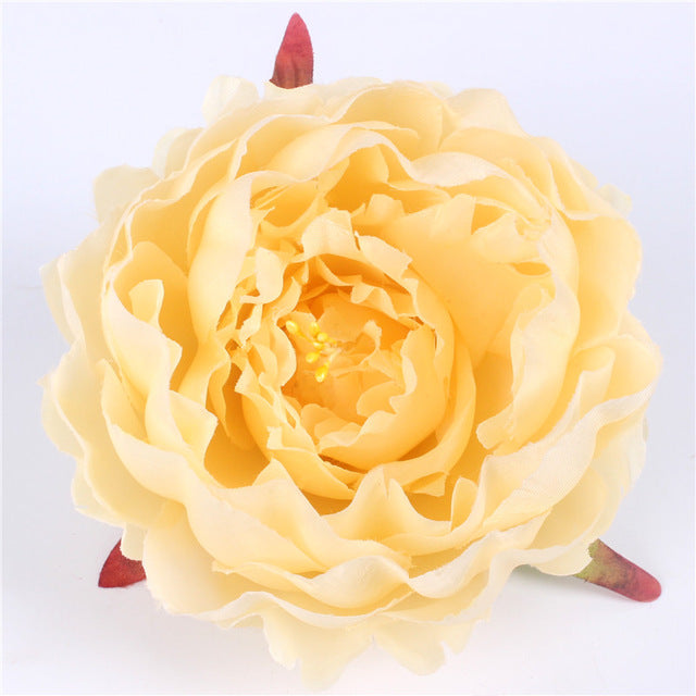 Artificial Silk Peony Flower Heads - 100 pieces