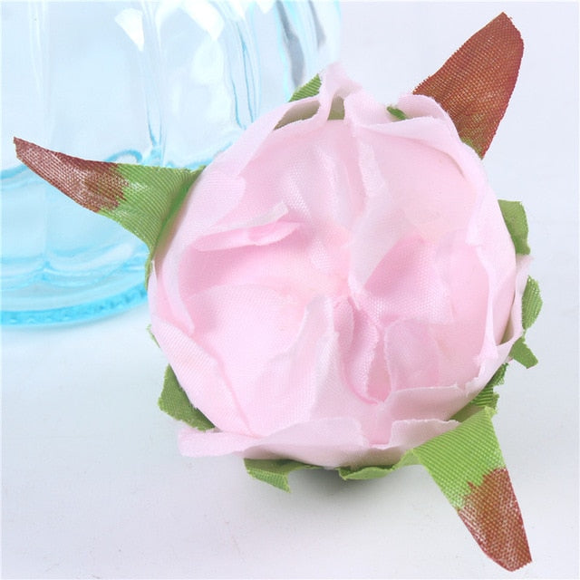 Artificial Silk Peony Flower Heads - 5 pieces