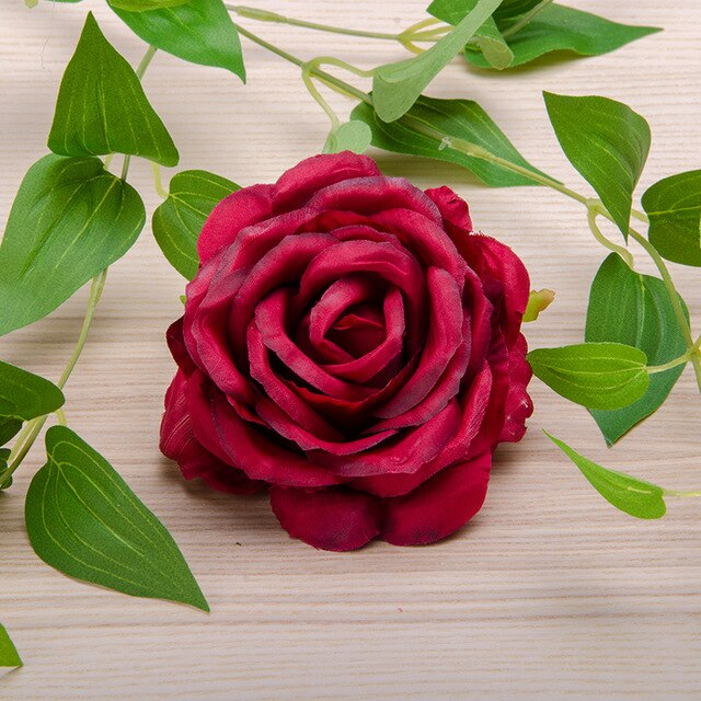 Artificial Silk Rose Peony Flower Heads - 8 pieces