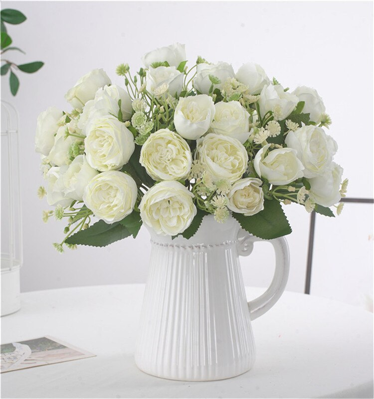 Artificial Mini Peony Rose Flower Bouquet