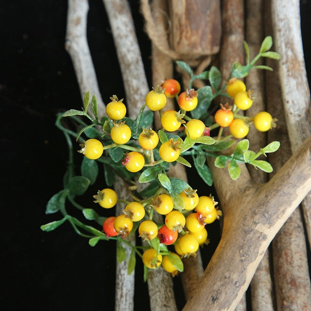 Artificial Berry Single-branch Plant - 1 piece