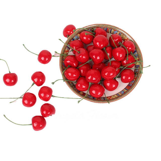 Artificial Cherry Fruit - 30 pieces