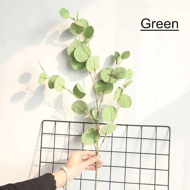 Artificial Green Eucalyptus Plant Leaves - 1 piece