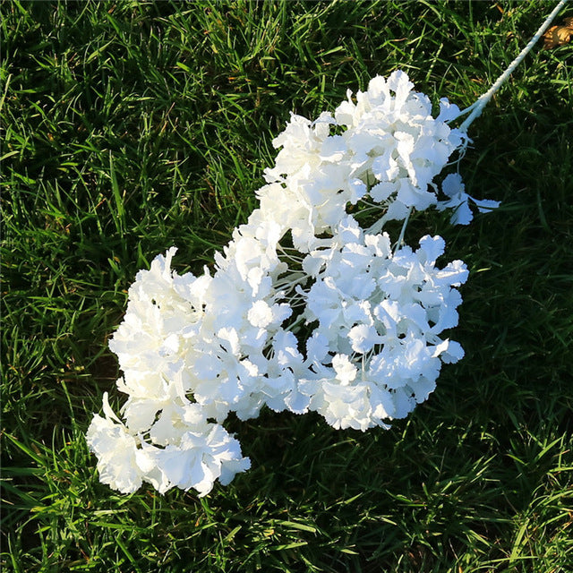 Artificial 4-branch Snow Orchid Flower - 5 pieces