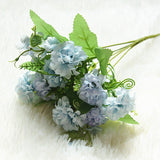 Artificial Mini 5-branch Silk Pompom Flower Bouquet