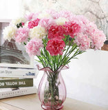 Artificial Silk Carnation Flower - 11 pieces