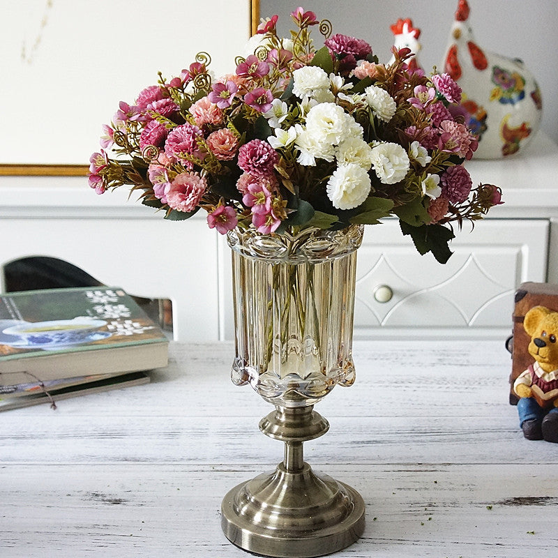 Artificial European Small Clove Carnation Flower Bouquet