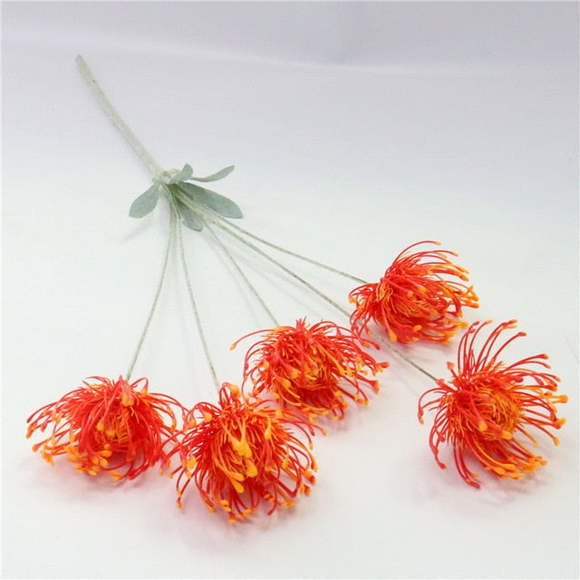 Artificial 5-head Chrysanthemum Lotus Emperor Flower - 1 piece