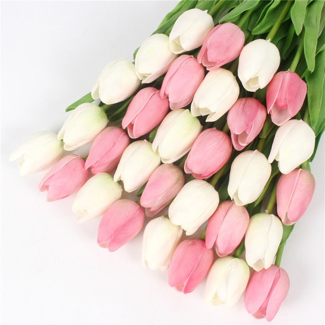 Artificial  Real Touch Mini Tulips - 21 pieces
